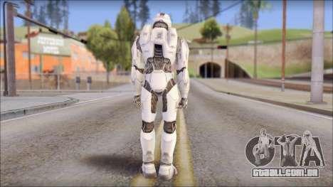 Masterchief White para GTA San Andreas segunda tela