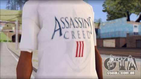 Assassins Creed 3 Fan T-Shirt para GTA San Andreas terceira tela