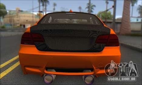 BMW M3 E92 Soft Tuning para GTA San Andreas vista direita