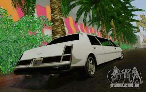 Washington Limousine para GTA San Andreas traseira esquerda vista