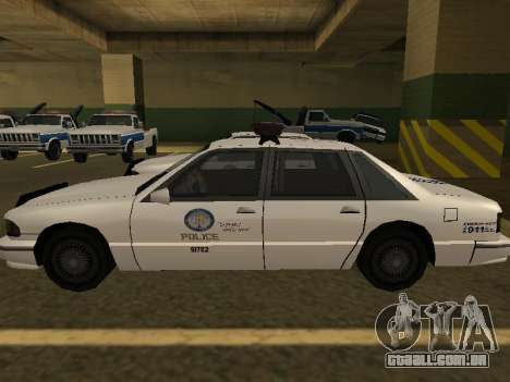 Police Original Cruiser v.4 para GTA San Andreas vista interior