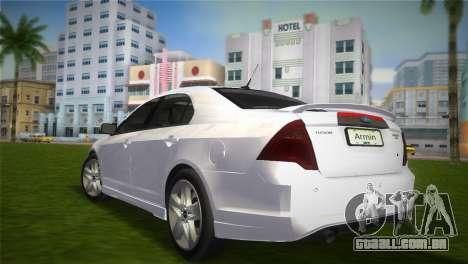 Ford Fusion 2009 para GTA Vice City deixou vista