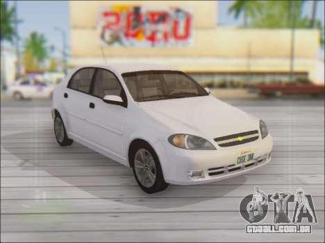 Chevrolet Lacetti para vista lateral GTA San Andreas