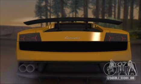 Lamborghini Gallardo LP570 Superleggera para o motor de GTA San Andreas