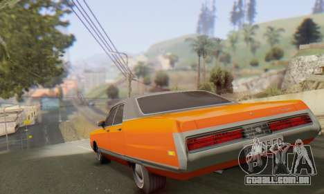 Chrysler New Yorker 1971 para GTA San Andreas vista traseira