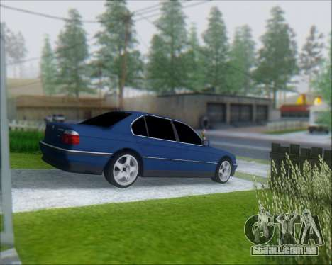 BMW 7 E38 para GTA San Andreas traseira esquerda vista