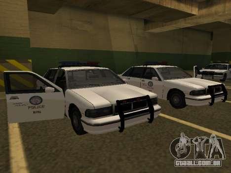 Police Original Cruiser v.4 para GTA San Andreas traseira esquerda vista
