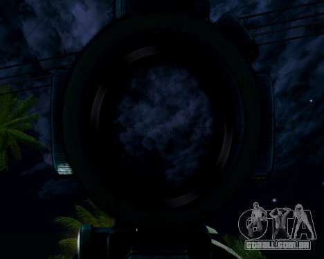 Sniper skope mod para GTA San Andreas por diante tela