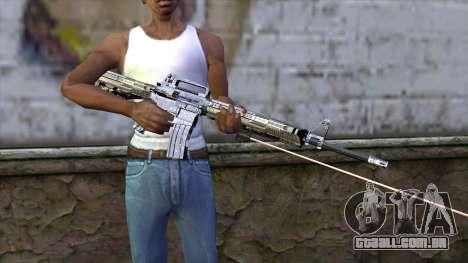 M4A1 com mira a laser para GTA San Andreas terceira tela