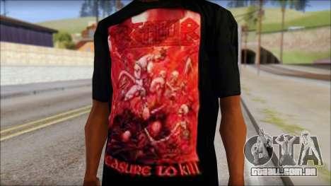 Kreator Shirt para GTA San Andreas terceira tela