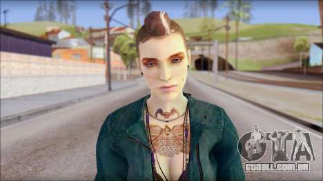 Clara Lille From Watch Dogs para GTA San Andreas terceira tela