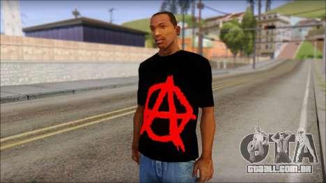 Anarhcy T-Shirt v1 para GTA San Andreas