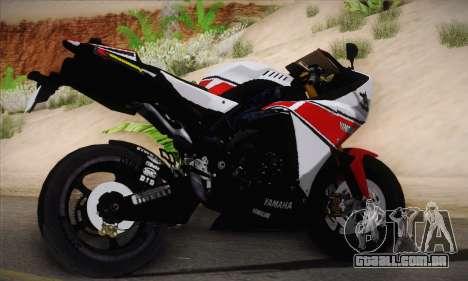 Yamaha R1 2011 para GTA San Andreas esquerda vista