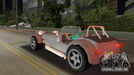 Caterham Super Seven para GTA Vice City deixou vista