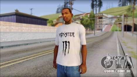 Monster Black And White T-Shirt para GTA San Andreas