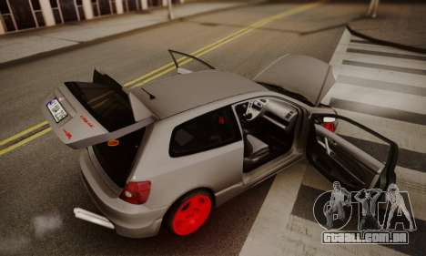 Honda Civic TypeR para GTA San Andreas vista interior