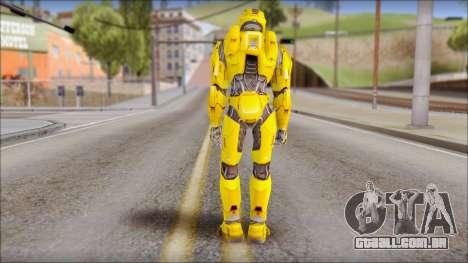 Masterchief Yellow from Halo para GTA San Andreas segunda tela