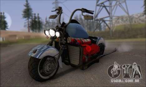 Boss Hoss v8 8200cc para GTA San Andreas esquerda vista