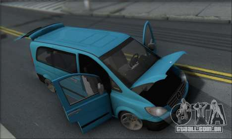Mercedes-Benz 115 CDI Vito 2007 Stance para vista lateral GTA San Andreas