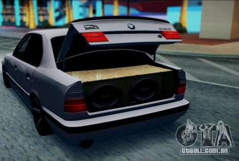 BMW 520i E34 para GTA San Andreas esquerda vista