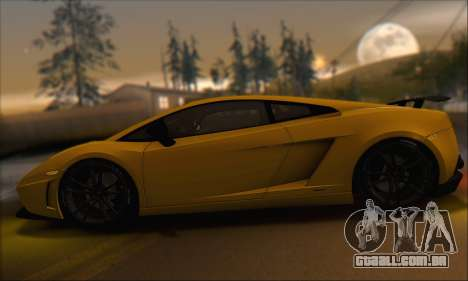 Lamborghini Gallardo LP570 Superleggera para GTA San Andreas vista superior