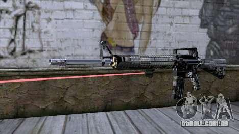M4A1 com mira a laser para GTA San Andreas