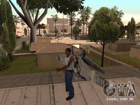 Optimus Jetpack para GTA San Andreas segunda tela