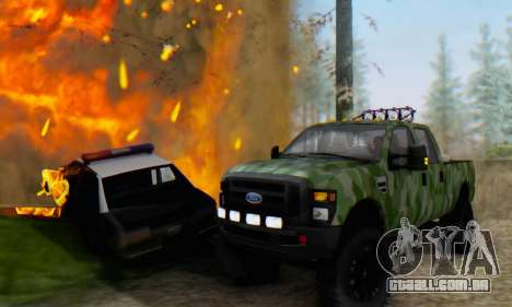Ford F-250 Camo Lifted 2010 para GTA San Andreas vista traseira