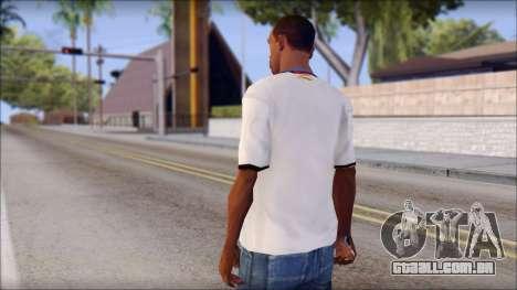 Real Madrid FC Jersey Mod para GTA San Andreas segunda tela