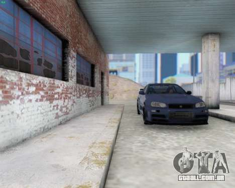 Nissan Skyline R34 Fast and Furious 4 para GTA San Andreas vista interior
