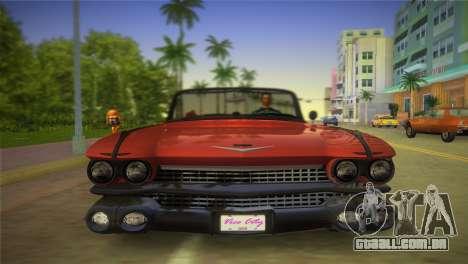 Cadillac Eldorado para GTA Vice City vista traseira