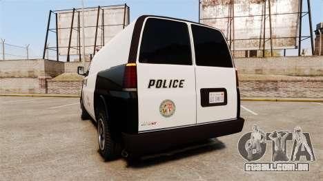 Vapid Speedo Los Santos Police [ELS] para GTA 4 traseira esquerda vista
