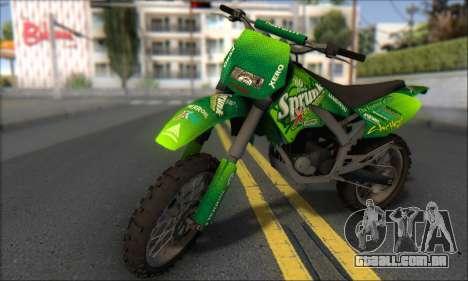 Sanchez From GTA V para GTA San Andreas