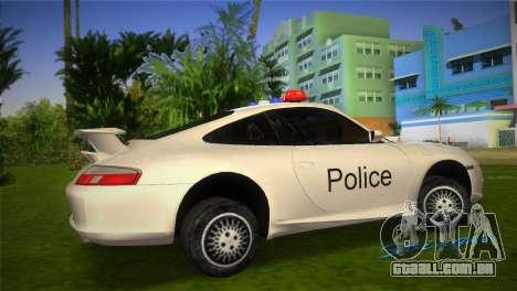 Porsche 911 GT3 Police para GTA Vice City deixou vista