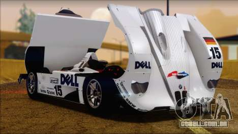 BMW 14 LMR 1999 para GTA San Andreas vista direita