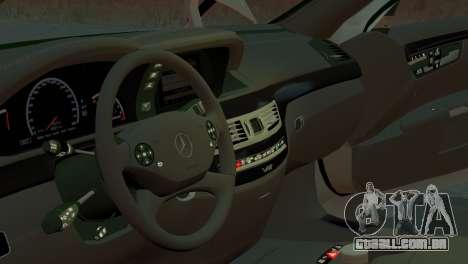 Mercedes-Benz S65 W221 AMG v1.3 para GTA 4 vista de volta