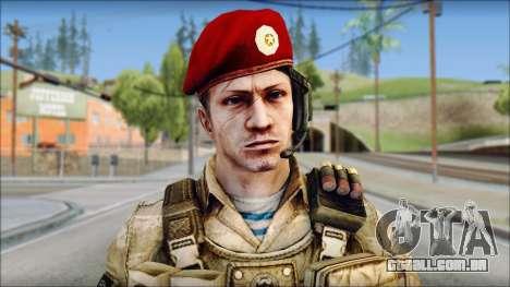 Desert Vlad GRU from Soldier Front 2 para GTA San Andreas terceira tela