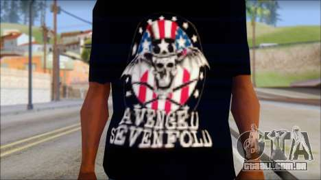 A7X Love It Or Die Fan T-Shirt para GTA San Andreas terceira tela