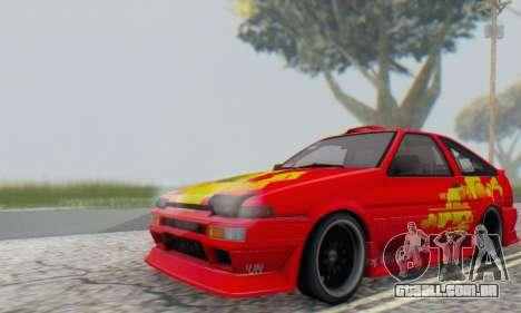 Toyota Corolla AE86 DS para GTA San Andreas vista traseira