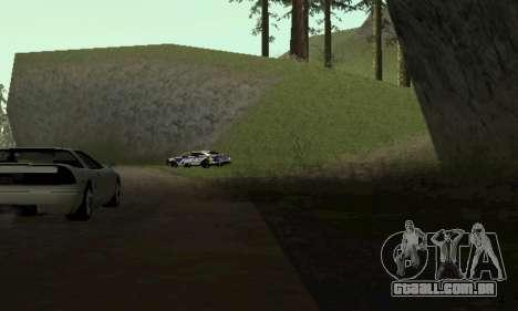Ford Taurus HSO Police para GTA San Andreas traseira esquerda vista