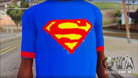 Superman T-Shirt v1 para GTA San Andreas terceira tela