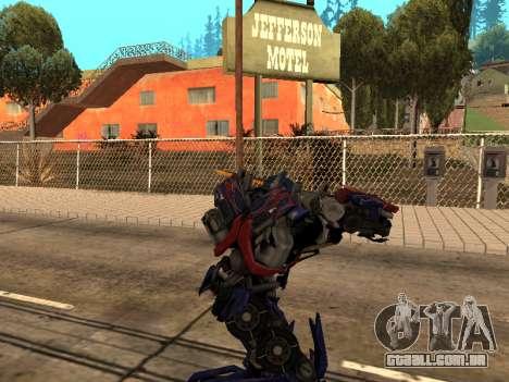 Optimus Sword para GTA San Andreas sétima tela