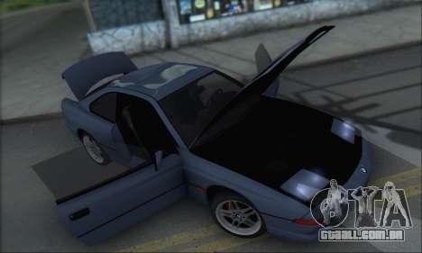 BMW E31 850CSi 1996 para vista lateral GTA San Andreas