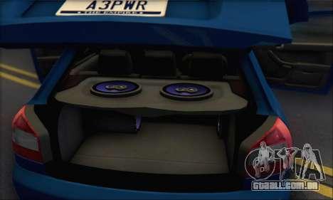 Audi A3 1999 para GTA San Andreas interior