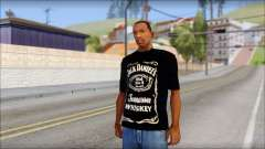 Jack Daniels Fan T-Shirt Black para GTA San Andreas