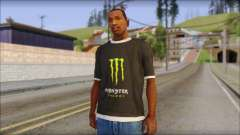 Monster T-Shirt Black para GTA San Andreas