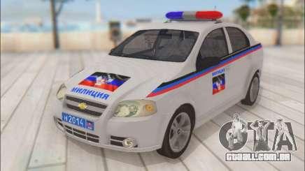 Chevrolet Aveo Polícia DND para GTA San Andreas