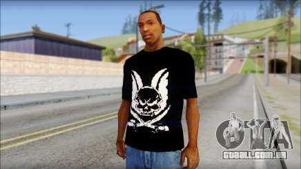 Skull T-Shirt Black para GTA San Andreas