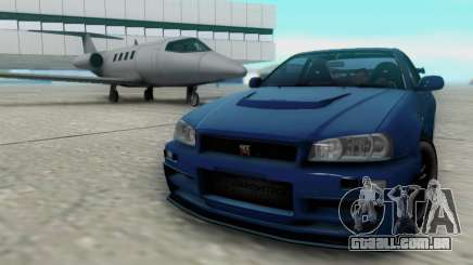 Nissan Skyline R34 Fast and Furious 4 para GTA San Andreas