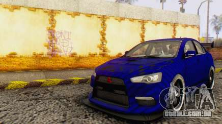 Mitsubishi Lancer EVO X Carbon Coloured para GTA San Andreas